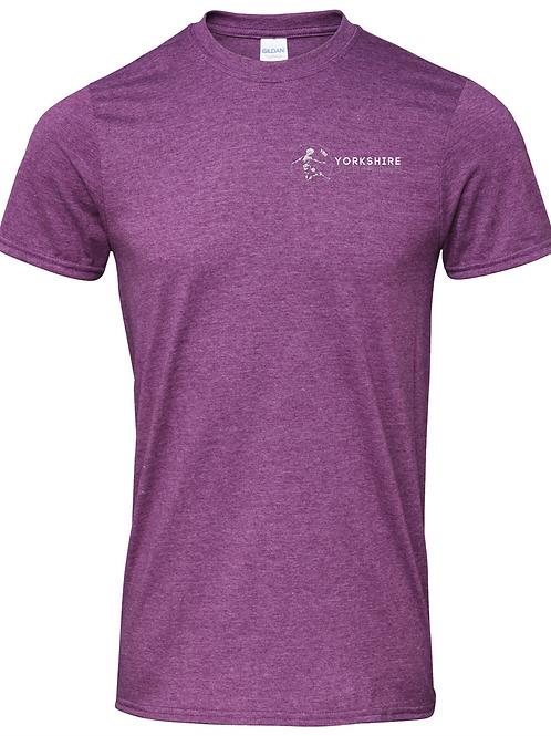 Heather Aubergine, YBS Logo T-shirt -