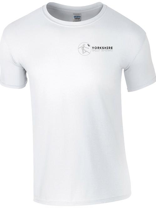 White , YBS logo T-shirt 2021