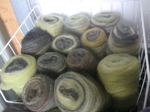 Just swirls of Random colour with lanolin 100g