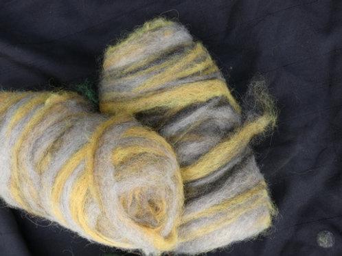 Natural coloured Gotland & Swirls  of mustard 100g