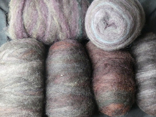Muted swirls of colours 100g $15