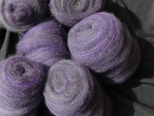 Swirls of  muted purple & Gotland grey 100g