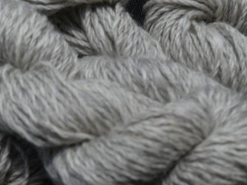 Mid Gotland Grey with soft white fleck 8 ply 50g