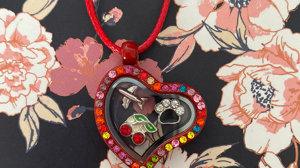Red heart i-charm locket