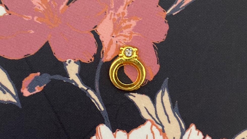 Gold ring charm