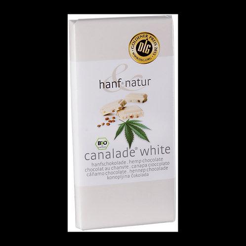 Chocolat blanc fourrée aux graines de chanvres Bio 100g