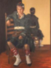 boy in costume_cadet_portrait of a boy_jennifer fyfe_ boy sitting on chair_ australian portrait artist_ female potrait artist_ school cadet