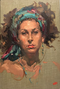 oil portrait_best portraits _ best oil portraits_oil sketch_Australian artist_ portrait artist_ Jennifer Fyfe_portrait of girl