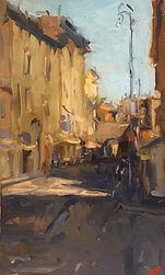 Roman street, street scene, Rome, Roma, Italian Summer, Impressionism, Australian artist