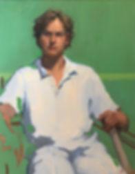 contemporary realism, impressionsim, portrait of a boy, jennifer fyfe, young cricketer, australian portrait artist, female potrait artist, contemporary portraiture, cricket