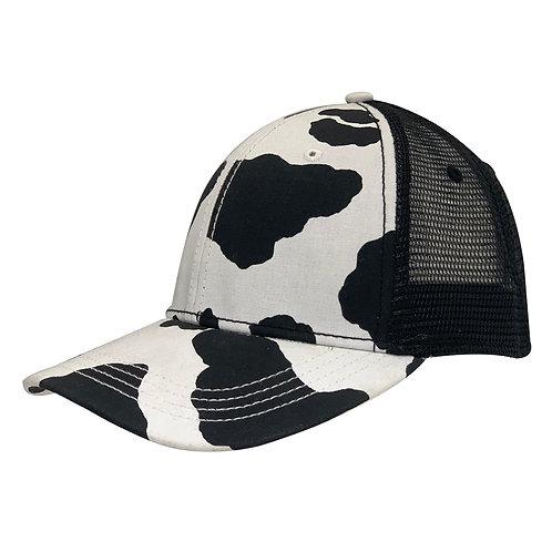 53006 MooVM Cow Print Mesh Back Cap