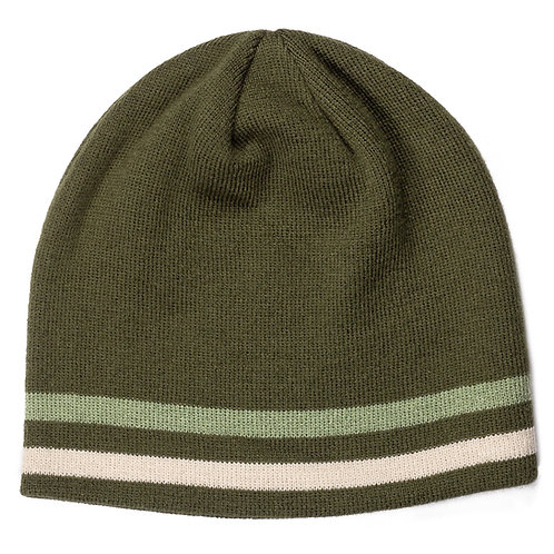55056 Dome Cover Striped Knit Beanie
