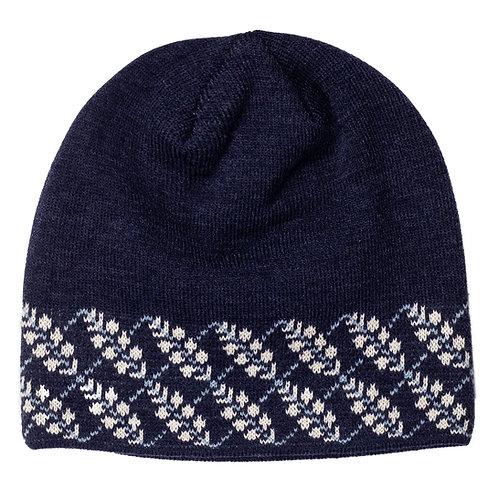 55050 Leaf Argyle Knit Beanie
