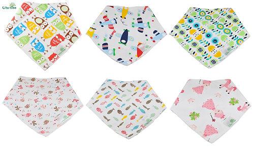 LitoTree Baby Bandana Drool Bibs, Unisex 6 Pack Gift Set