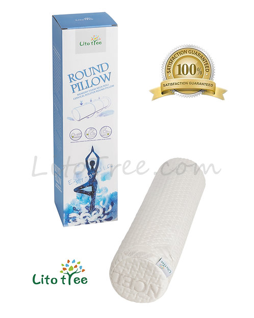 LitoTree Comfort Memory Foam Neck Roll and Cervical Bolster Round Pillow