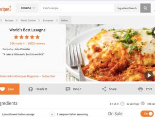 World's Best Lasagna, Sarah Clark Style
