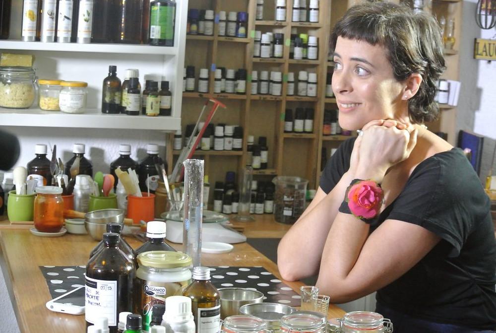 """A """"chef cosmetique, a carioca Carol (Foto: acervo pessoal)"""