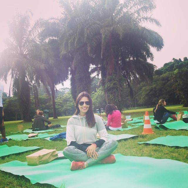Eu, em um evento de fitness no Parque do Ibirapuera (Foto: a Naturalíssima)