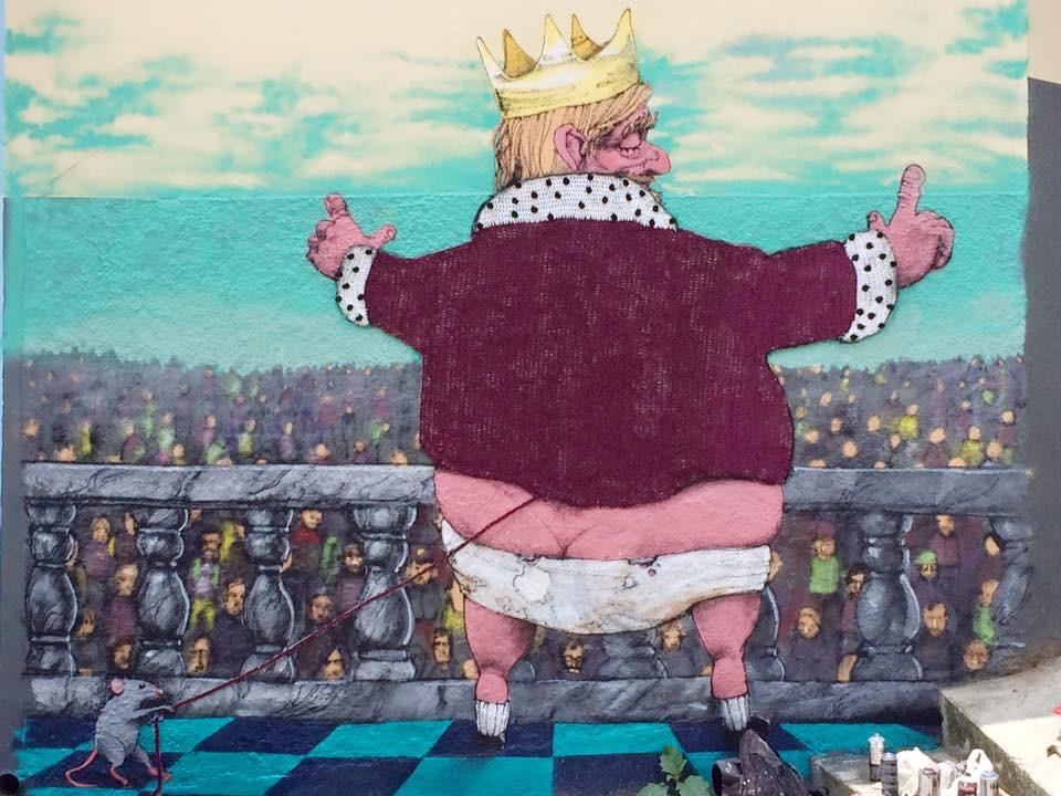 """A parceria entre Anne e p artista Paulo Tito: """"O Rato roeu a roupa do rei de Roma"""". (Foto: arquivo pessoal)"""
