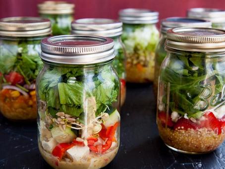Como fazer: salada no pote de vidro