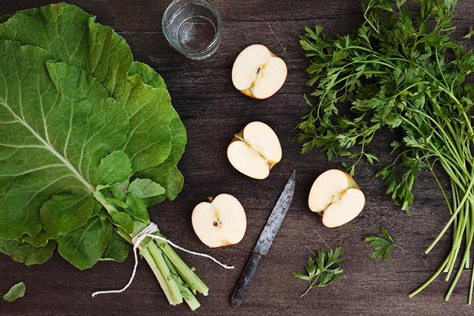 Suco verde básico da Silvia Corbuci. ( Foto, tirada do blog Cozinha Efêmera, por Elisa Correa)