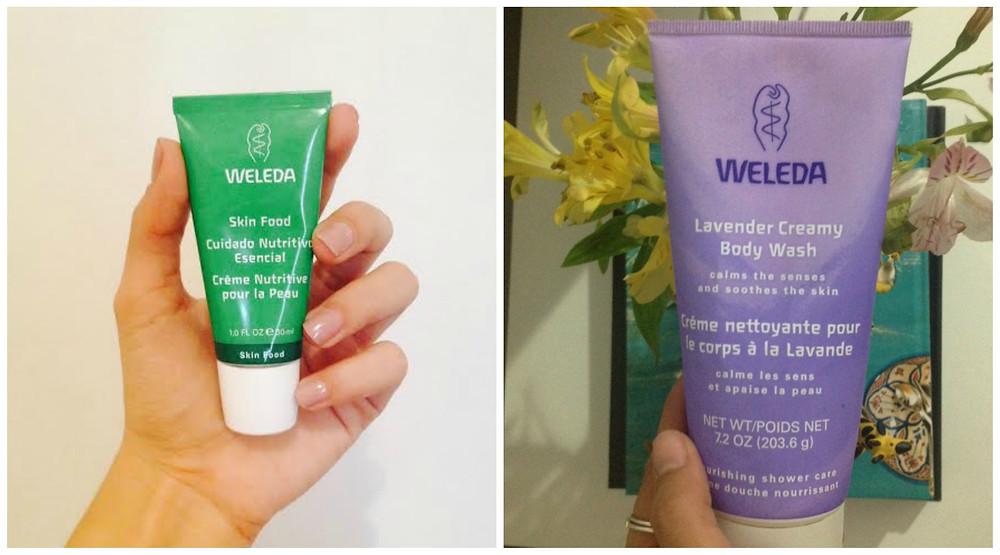 Meus queridinhos da Weleda: sabonete líquido de lavanda e Skin Food