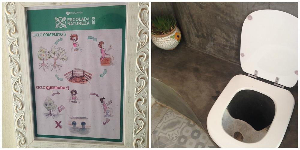 Banheiro seco do centro da ecovila