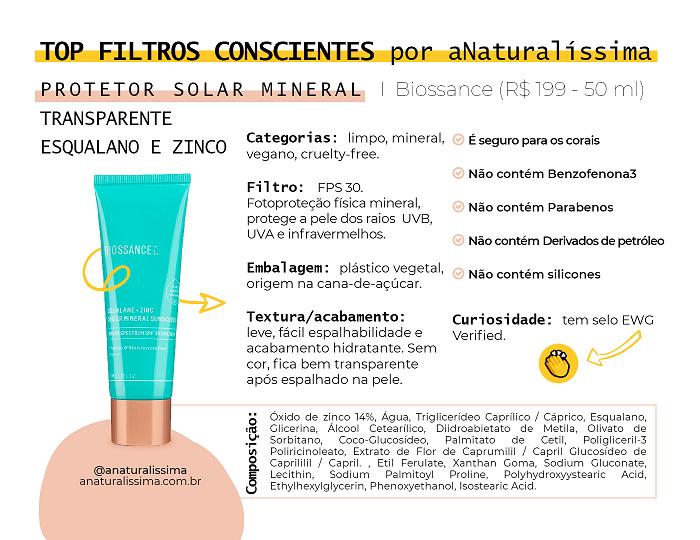 Protetor solar esqualano Biossance