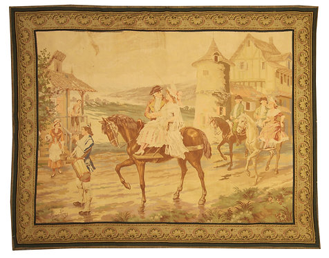 """Antique Tapestry - 5'9"""" x 7'3"""""""