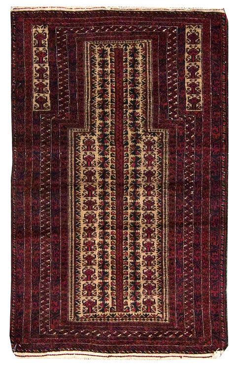 "Baluch Prayer Rug - 2'10"" x 4'11"""
