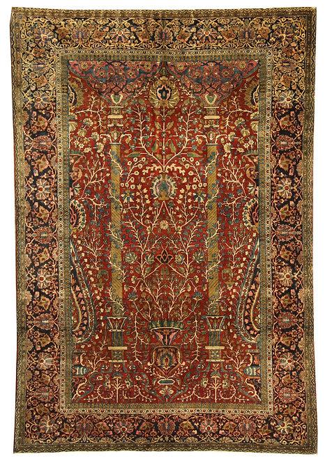"""Kashan Prayer Rug - 4'3"""" x 6'6"""""""