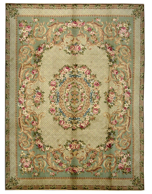 """French Aubusson - 9'1"""" x 12'2"""""""