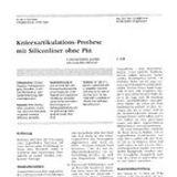 Knieexartikulations-Prothese mit Silicon