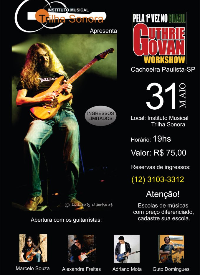 Cartaz - abertura do workshop do Guthrie