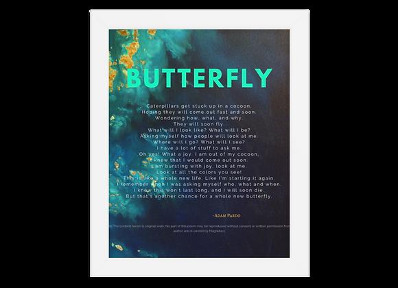 """""""Butterfly"""" Framed Poster"""
