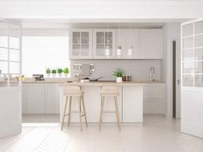 Light, bright and white kitchen design