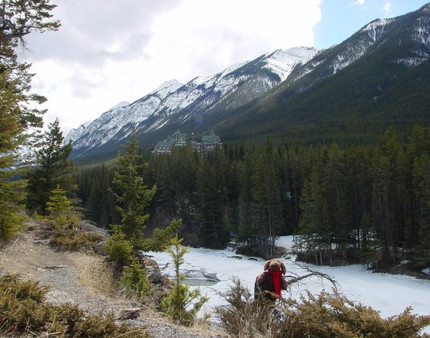 Bow River Trail, Banff, AB - April 2001