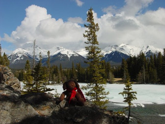 Bow River Trail, Banff, AB - April 2001