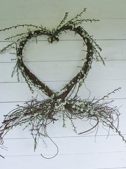 Rustic spring heart.