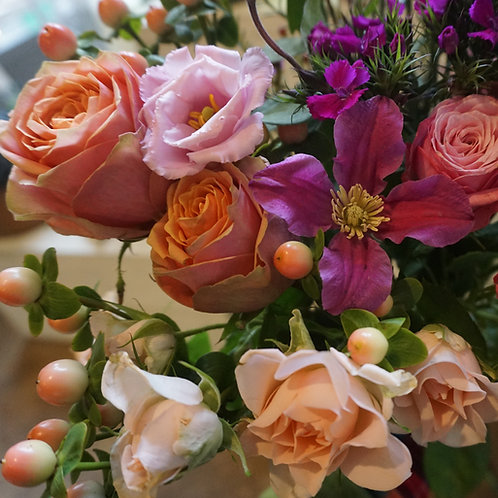 Pink and Apricot Bouquet