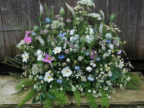 Summer meadow style arrangements.