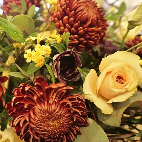 Warm winter bouquet.