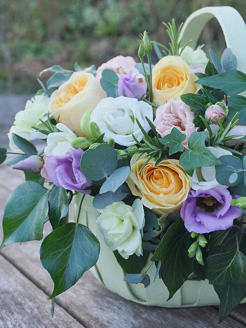 Pastel Roses Trug