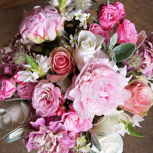 Pretty pinks and whites