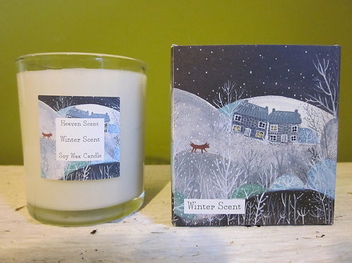 Large winter candle