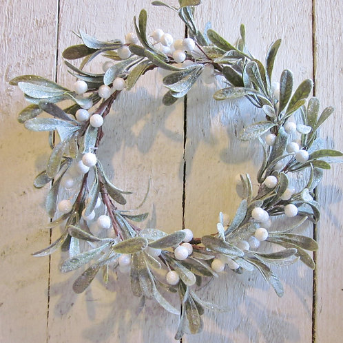 Faux mistletoe wreath