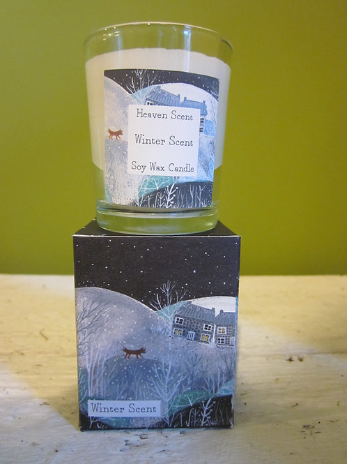 Small winter candle