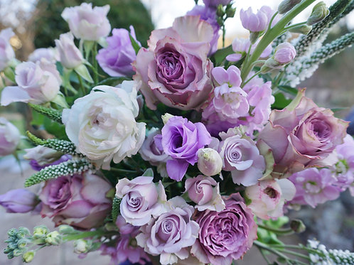 Fresh and pretty whites and purples. Prices from -