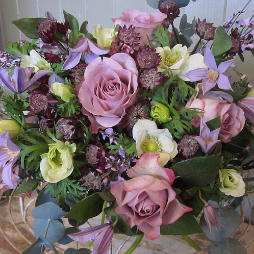 Best selling pinks and lilacs for a soft, romantic bouquet.