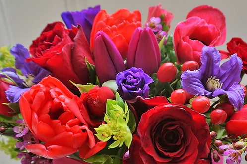 Rich Reds and Pinks Bouquet